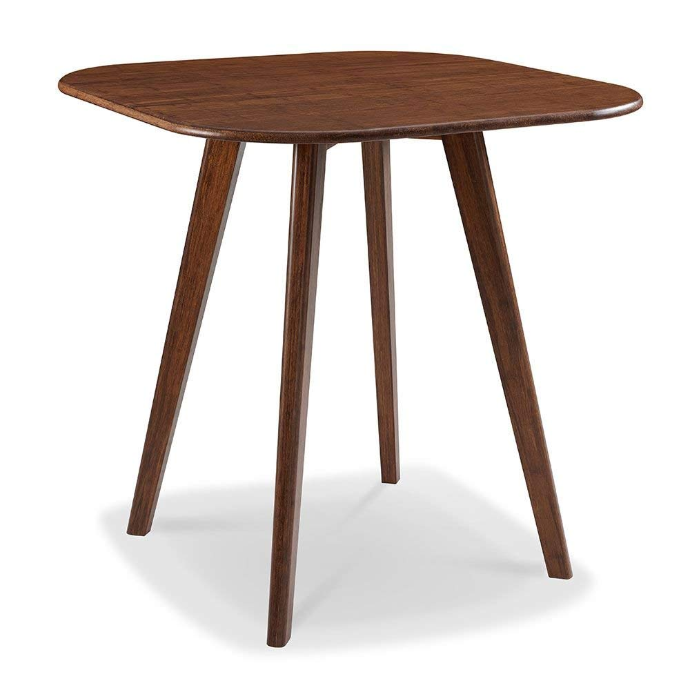 """Currant Solid Bamboo Counter Height Table Exotic Caramelized Solid Bamboo Dimensions: 36""""W X 36""""D X 36""""H Weight: 48 Lbs"""