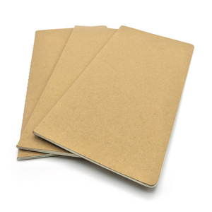 Cheap custom paper a4 a5 printed school kraft paper blank notebook