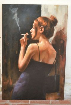 smoking woman portrait oil painting buy smoking woman portrait oil