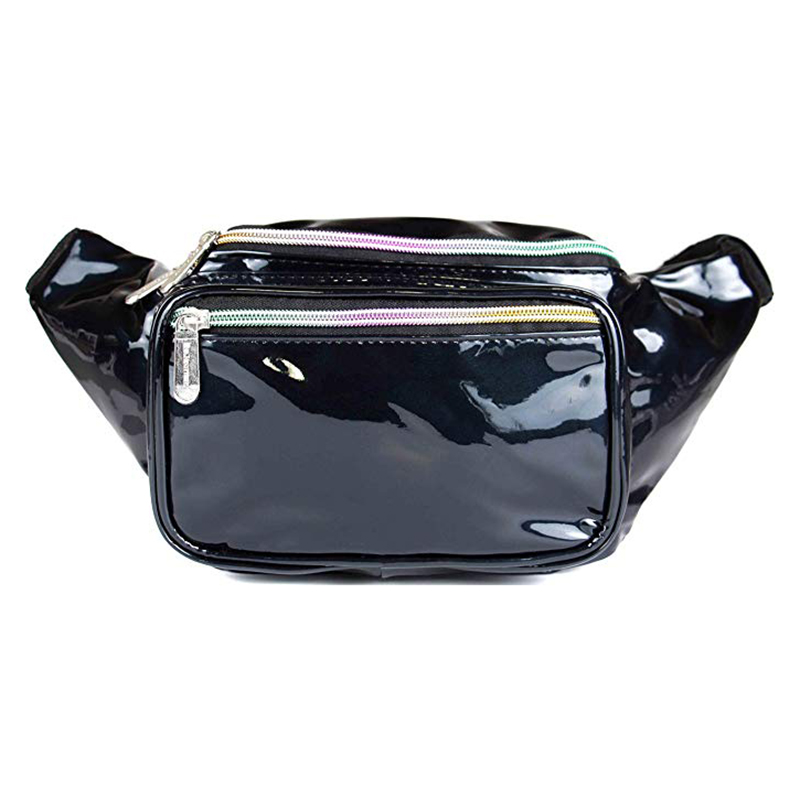 Competitive Price Custom Logo Low MOQ New Promotion Black Waist Belt Bag For Man Manufacturer in China