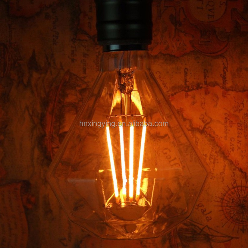 new special shape giant xxl D120 D125 diamond led filament <strong>bulb</strong>