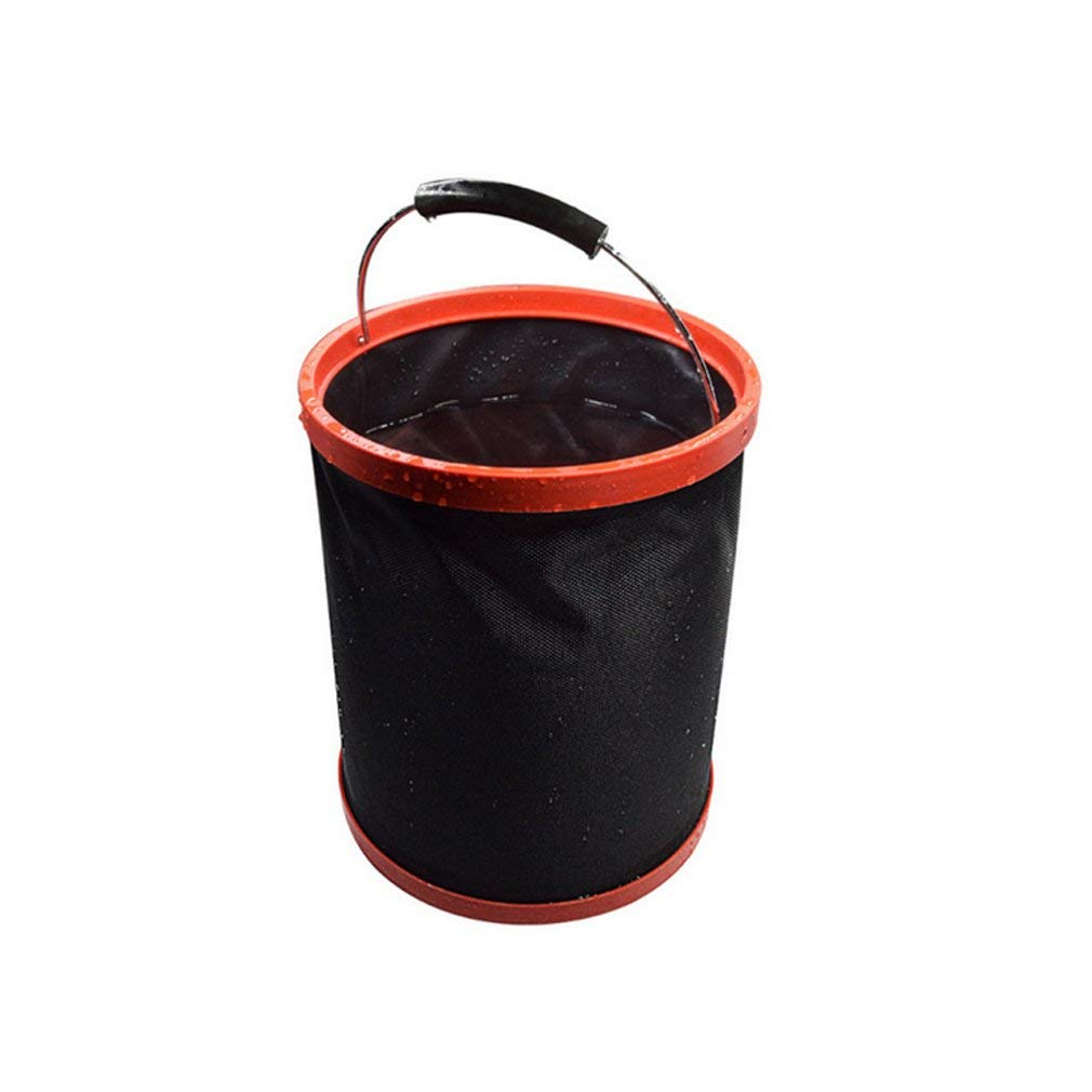 Abri Aeyno Collapsible Bucket, 12L Water Bag 2000 D Oxford Cloth Multi-functional Fold-able Bucket, Portable Travel Outdoor Wash Basin Car Washing Camping Outdoor Bucket