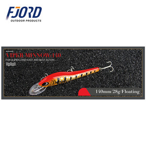 FJORD Top quality 140mm 28g Japanese well eye fishing lure hard minnow fishing lure