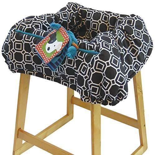 The Boppy Company Shopping Cart Cover, City Squares, Black, White by Boppy