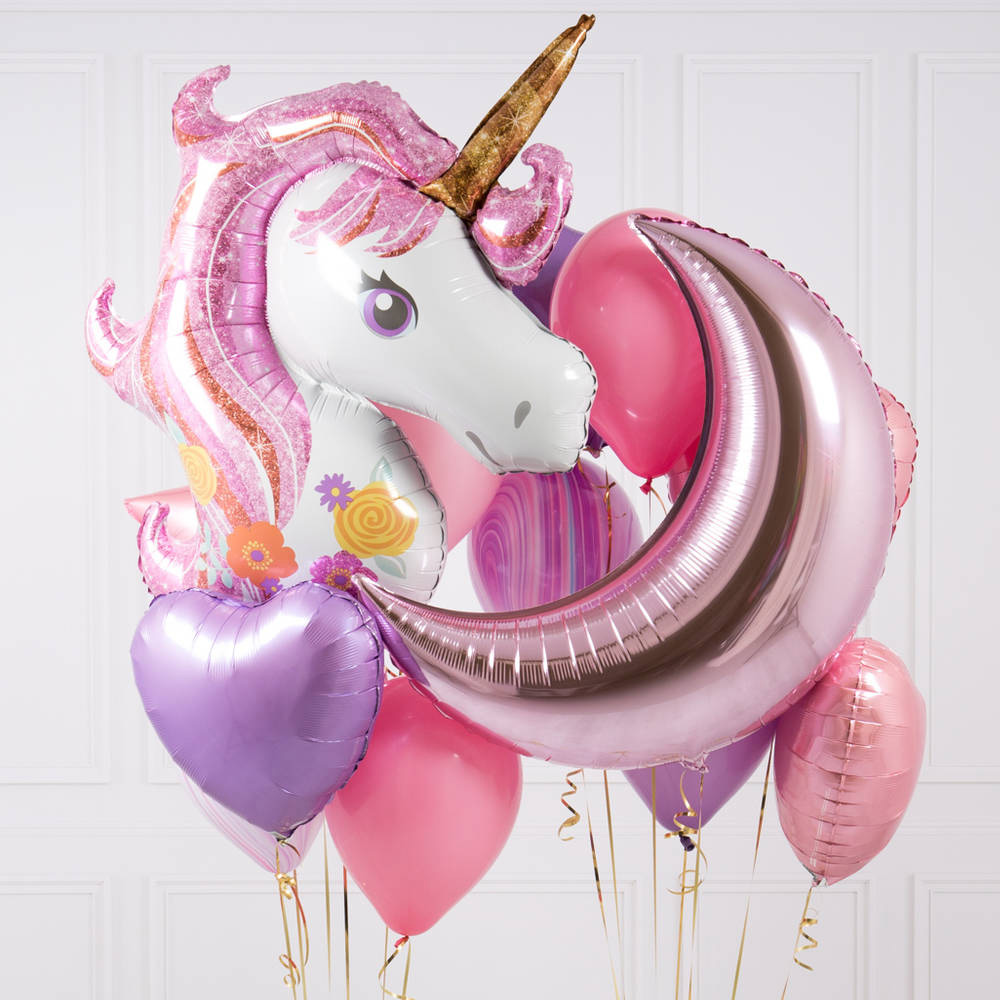 mylar balloons wholesale unicorn party supplies helium purple and Pink balloons birthday decorations UP009