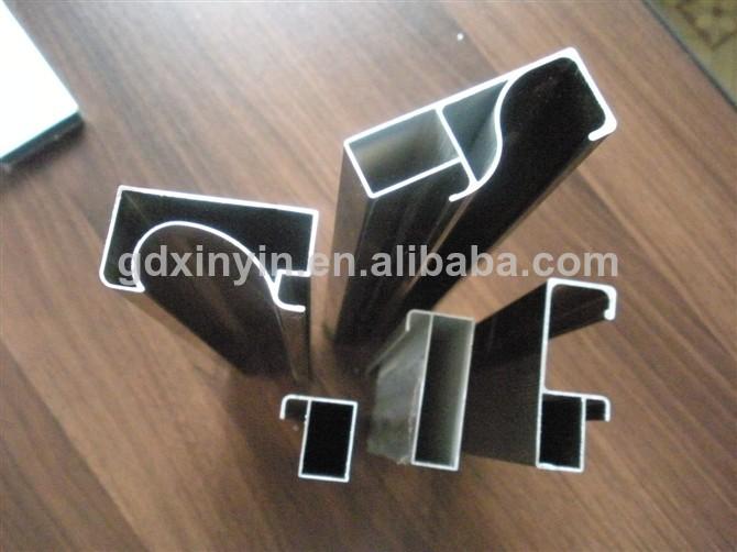 Marco de perfil de aluminio para muebles de cocina de cristal de silicio de acero de la puerta - Perfiles de aluminio para armarios ...