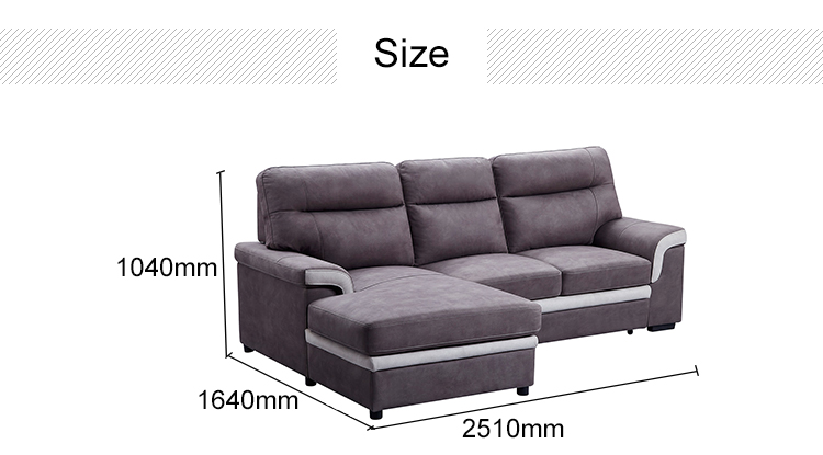 China modern design fabric and velvet sofa for living room