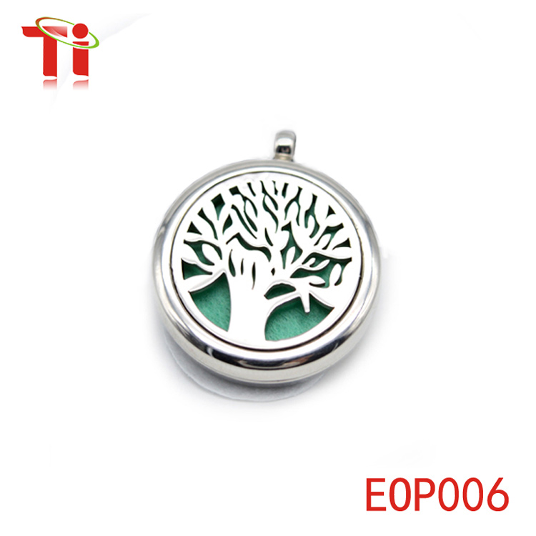 tree of life pendant aromatherapy felt pad essential oil diffuser pendant necklace wholesale locket sublimation blanks pendants