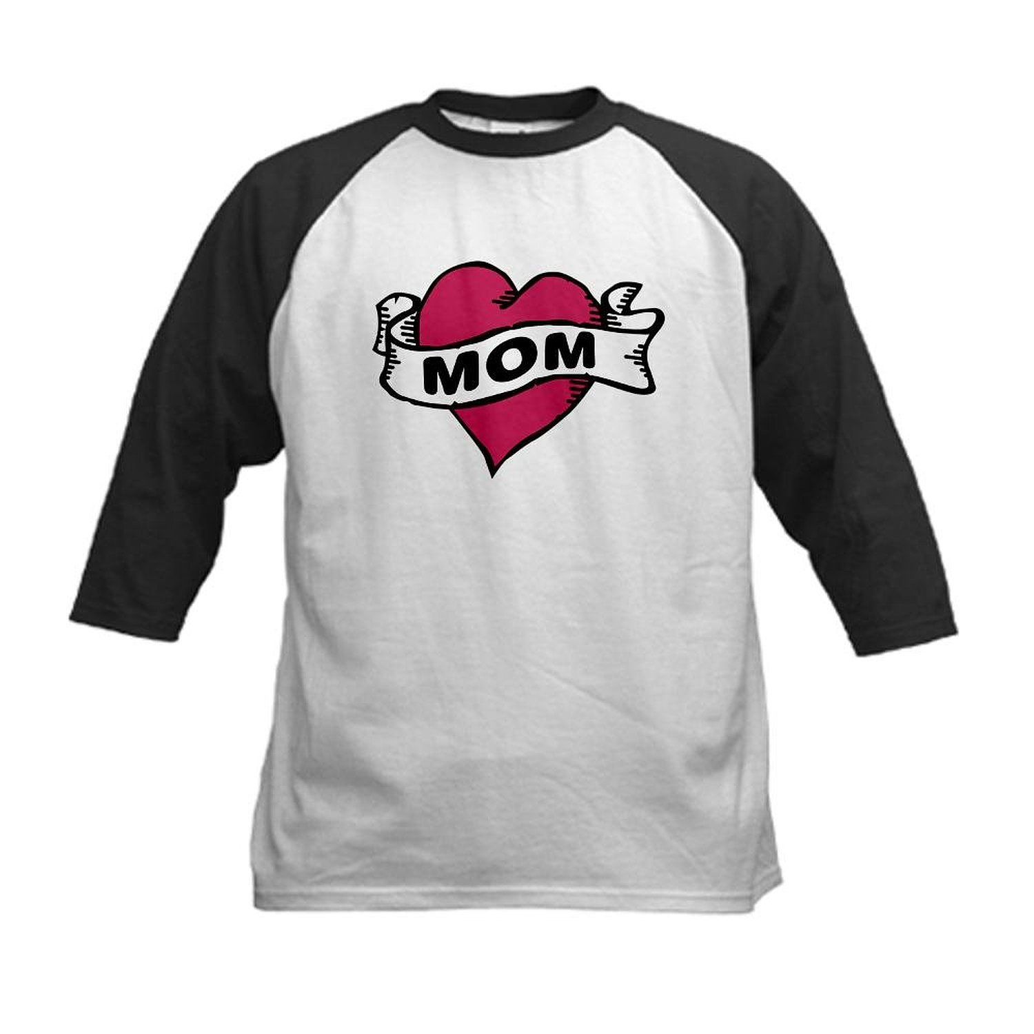 155f71a03 CafePress Kids Baseball Jersey - Mom Heart Tattoo Kids Baseball Jersey