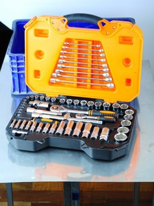 "57pcs 1/4"" & 1/2"" Socket Set, Socket Wrench, High Quality Hand Tools"