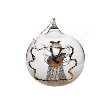 Hangen Klare Weihnachten Glaskugel Mit Engel Innen