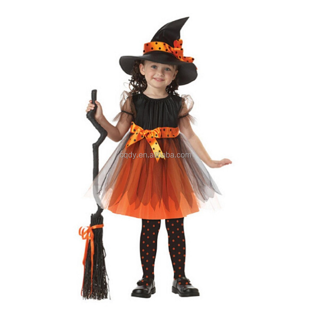 Halloween witch performance costume Kid s witch Costume girl s fancy dress  Costume witch uniforms cosplay Dress 2e906554f70
