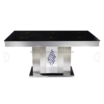 Restaurant Hotpot Korean Bbq Grill With Glass Marble Table Top Metal Table Stand Korean Electric Bbq Grill Table Top Buy Korean Electric Bbq