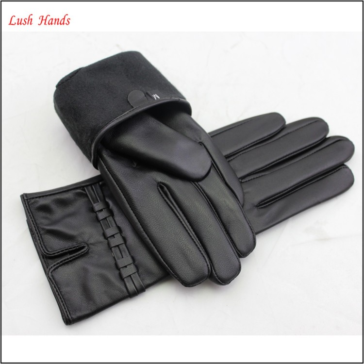 basic style party dresses women high quality leather gloves