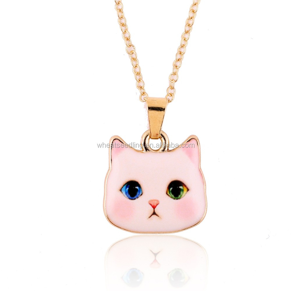 Cat Necklace sliver Plated 2016 News Collar Pendant Accessories Animal Fashion Jewelry Famous Brand Unique