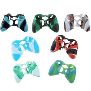 Camo Silicone Soft Rubber Gel Grip Skin Case Cover for Xbox 360 Controller Replacement Parts Rubber Case
