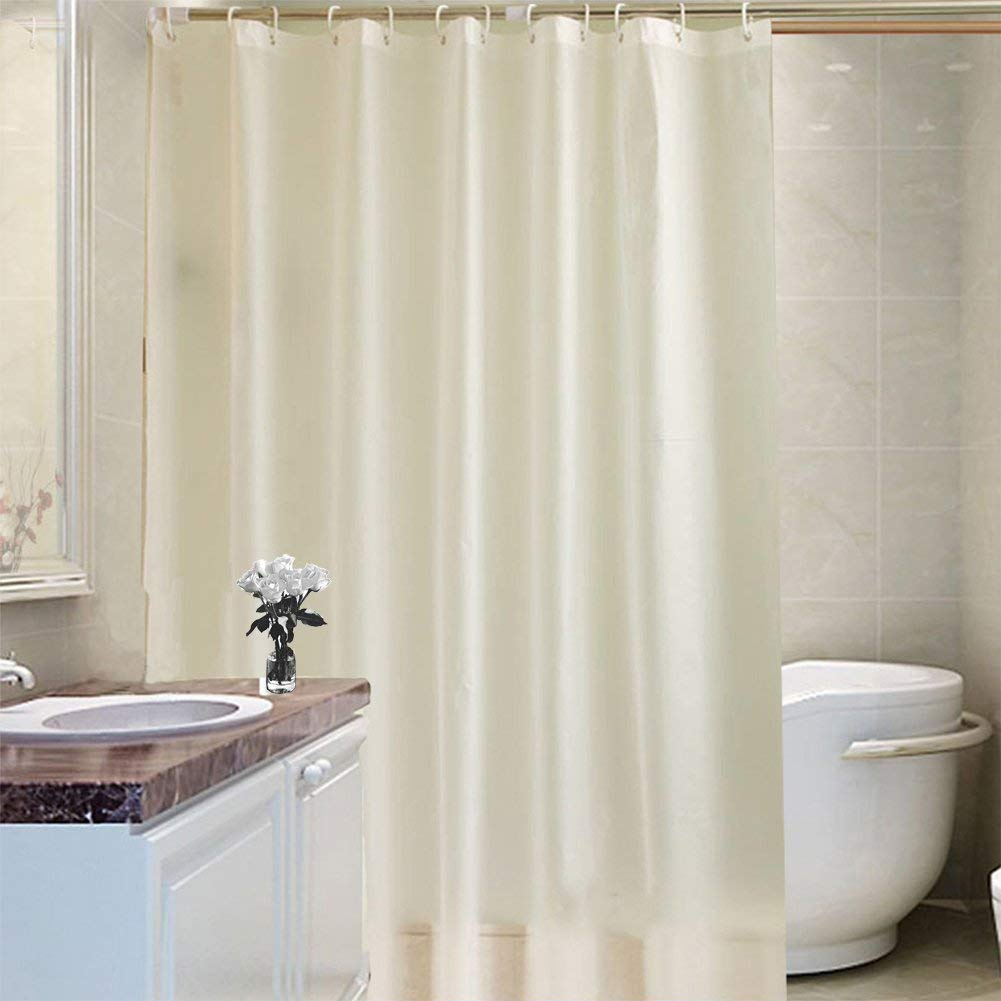 Get Quotations A Tradinf Shower Curtain Liner With Hooks Fabric Mildew Resistant Anti Bacterial Waterproof Non