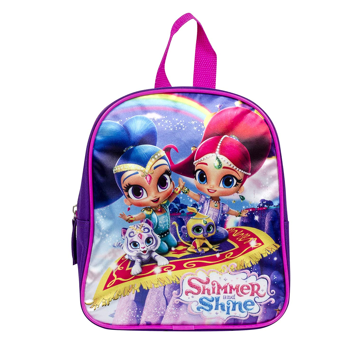 c255f7f86d69 Get Quotations · Girls Nickelodeon Shimmer and Shine Dome Purple Backpack 12  inch Bag