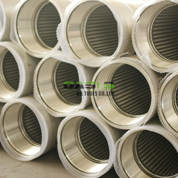 Slotted Johnson water well screen tube wedge wire screen