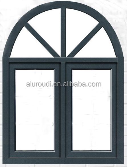China de aluminio de doble acristalamiento ventana de arco - Cerramientos de aluminio precio por metro cuadrado ...