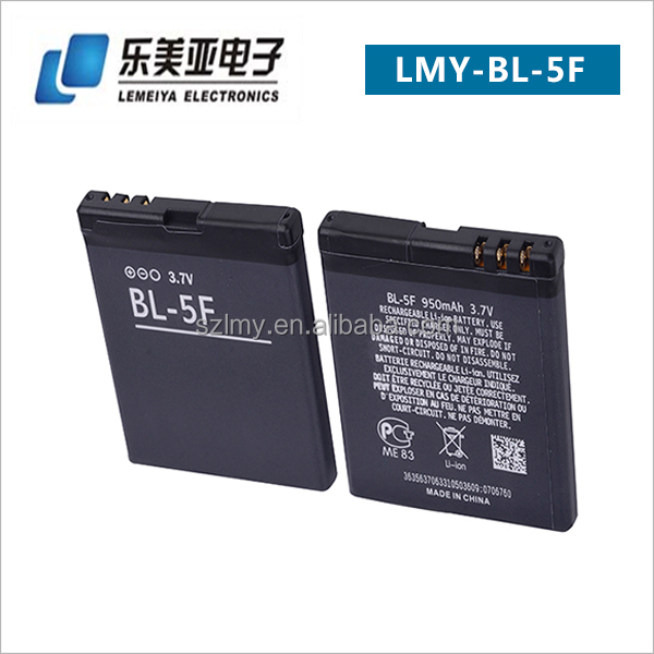 China Manfactured Top Quality BL-5F Lithium Ion Battery for Nokia Mobile Phone 6210n 6710n E65b N96 N99 C5-01 X5-00