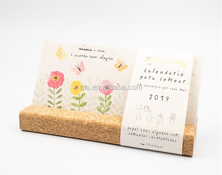 100% eco friendly plantable seed paper calendar