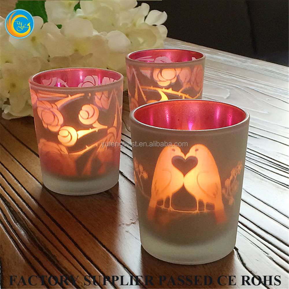 Candle container rose gold candle jar