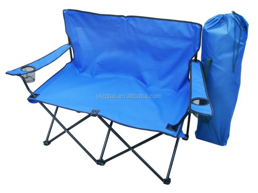 Allongee Reglable Chaise De Camping Pliant Double Longue
