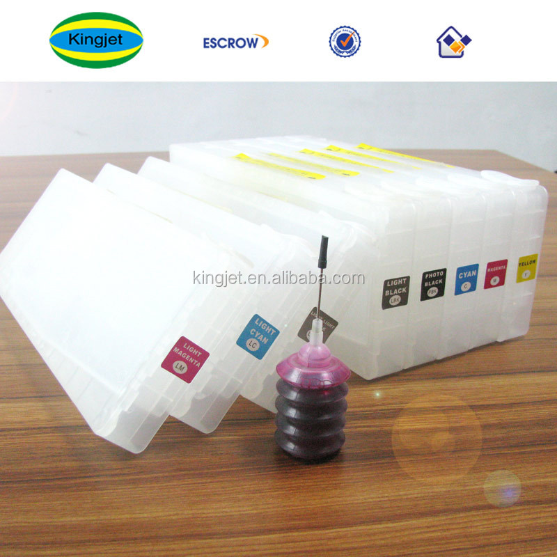 chinese supplier refillable ink cartridge 9800 7800 for epson 7880 with ink bag