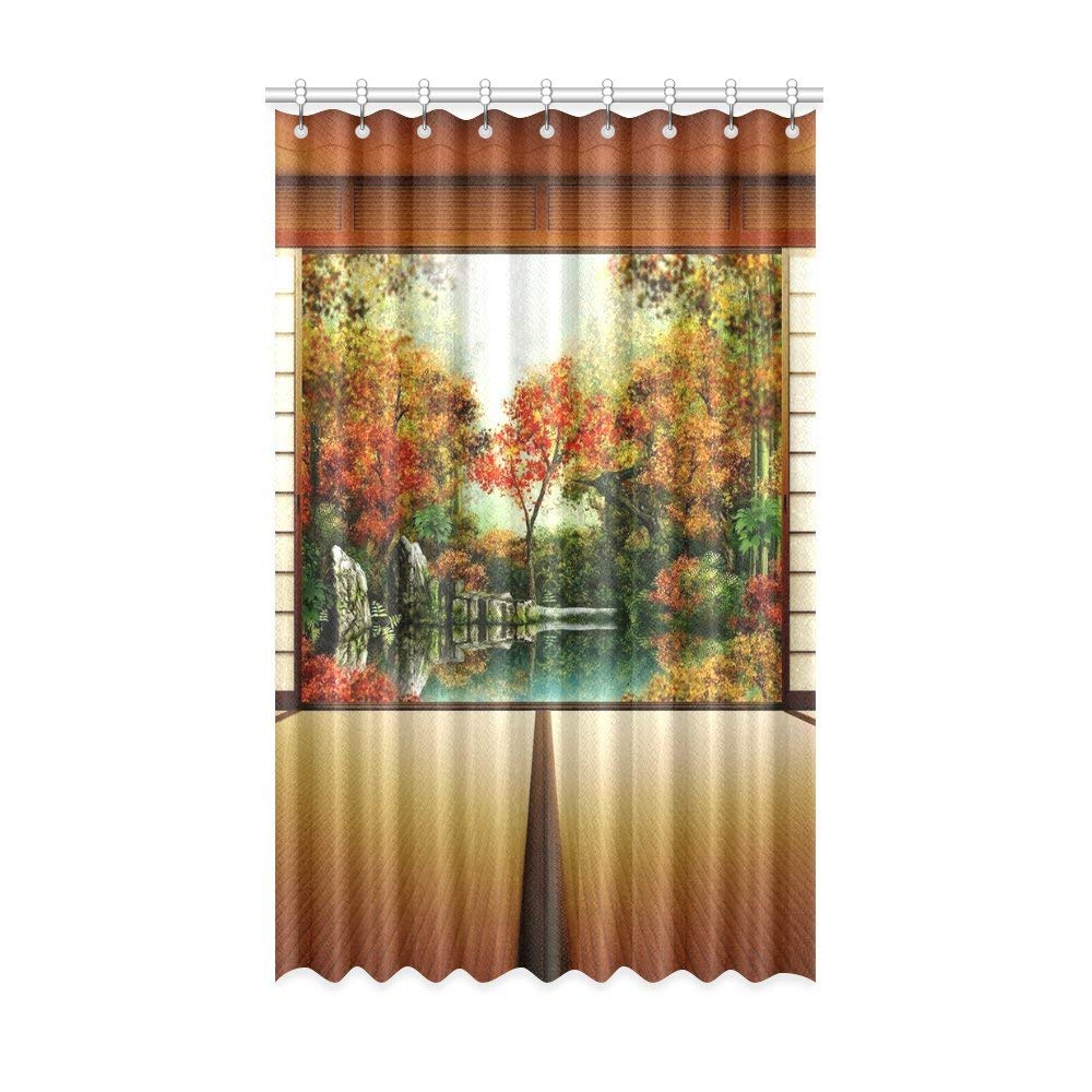 Get Quotations · Window Curtains Modern Style Print Japanese Style  Decorative Art Living Room Curtains Room Decoration Shading Childrenu0027s