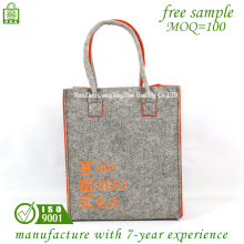 Wholesale High Quality Custom Logo Felt Shoulder Printing Promotional Tote Bag Felt Bag