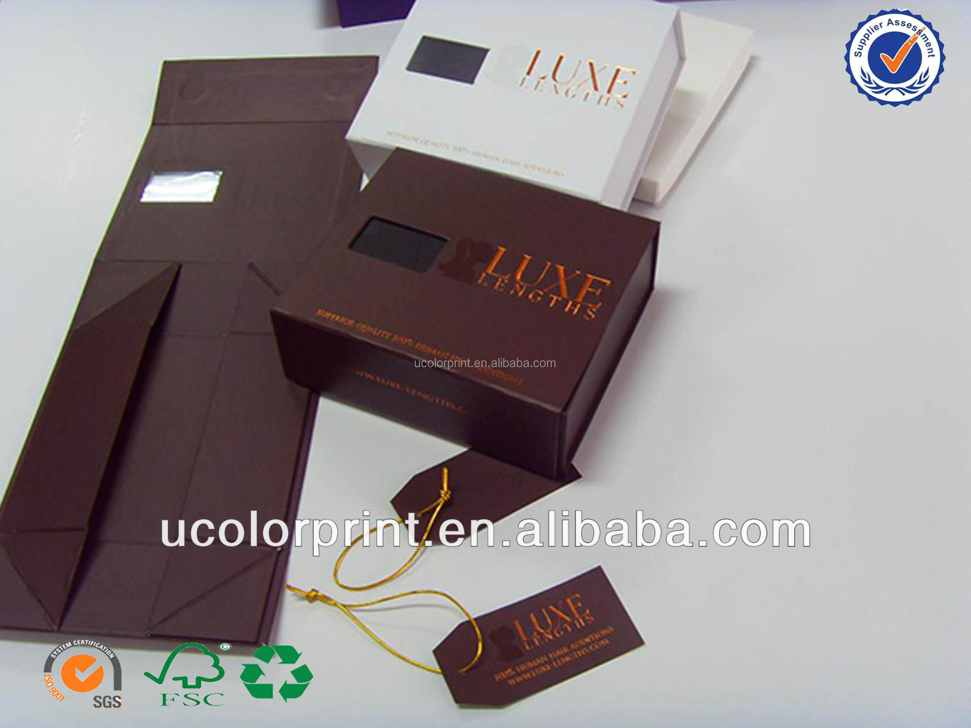 2014 New Customized Hair Extension Packaging Boxes,Folding Hair ...