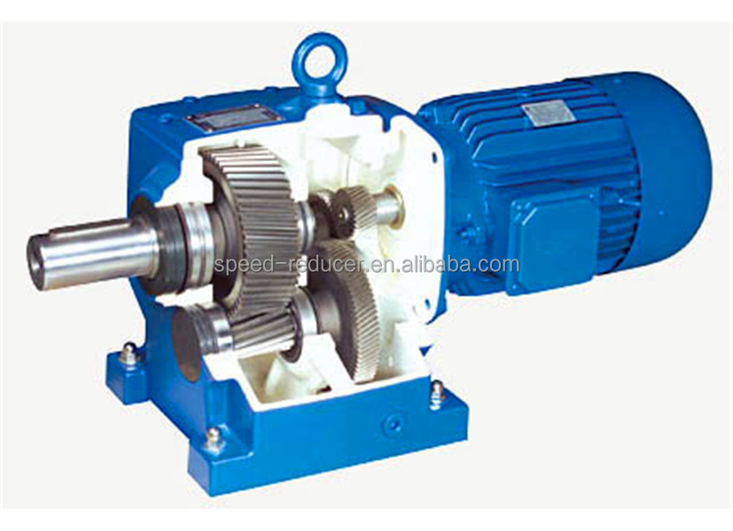 R Series Inline Coaxial Motor Rector Gearbox With Motor
