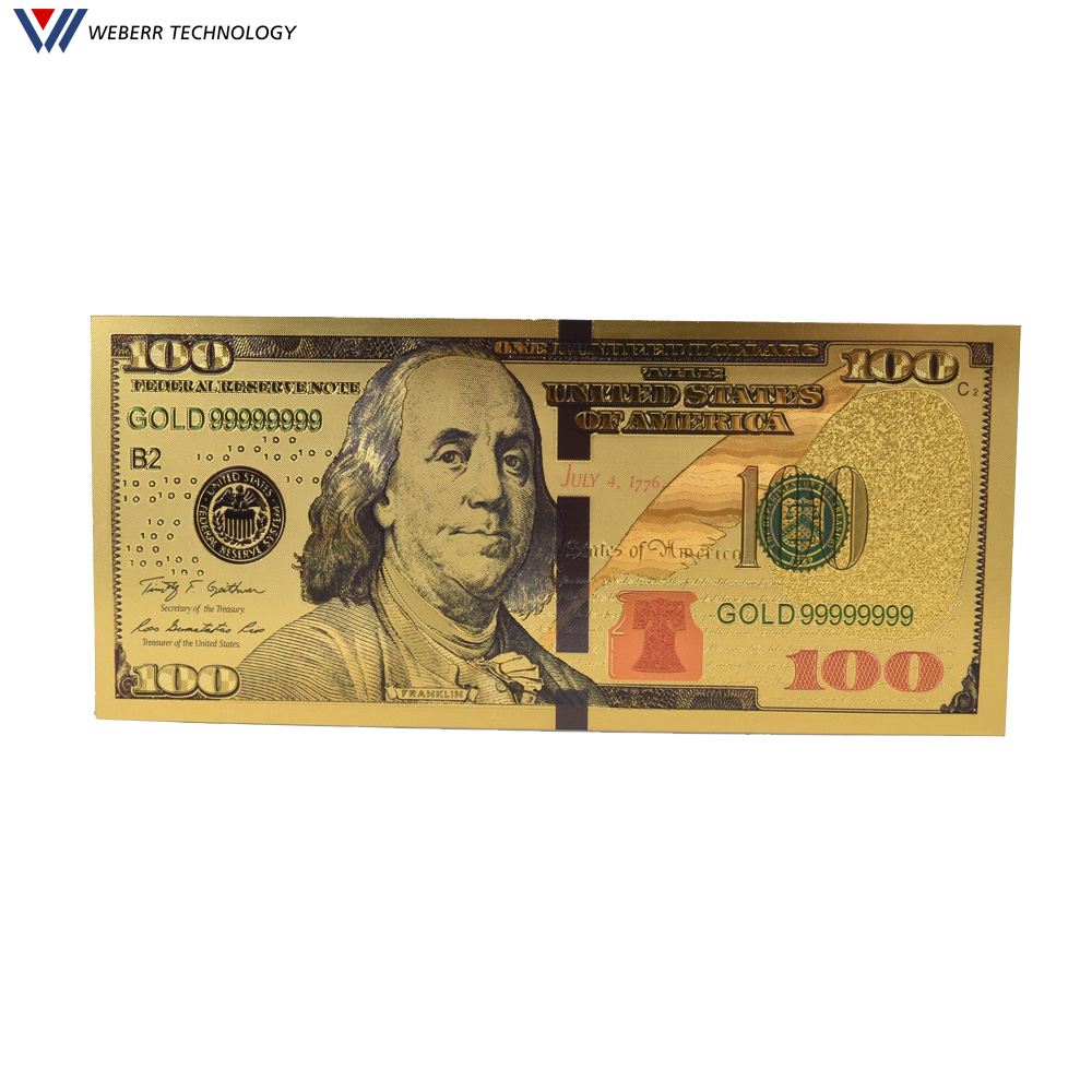 Hot Money Collection Currency 100 Usd One Hundred Dollars Gold Foil  Banknote 100 Dollar Bills - Buy Gold 100 Dollar Bill,Gold Foil  Banknote,Duck Bill