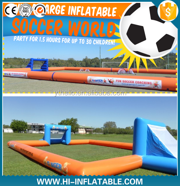 2016 Hot sale inflatable soccer arena, inflatable soccer game for sports