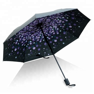 Advertising Automatic Cheap Custom Folding 2 Fold Umbrella