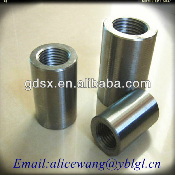 Custom stainless steel/brass/aluminum round coupling nut,hex round coupling nuts