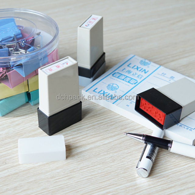 colorful Self Inking signature pocket rubber stamp