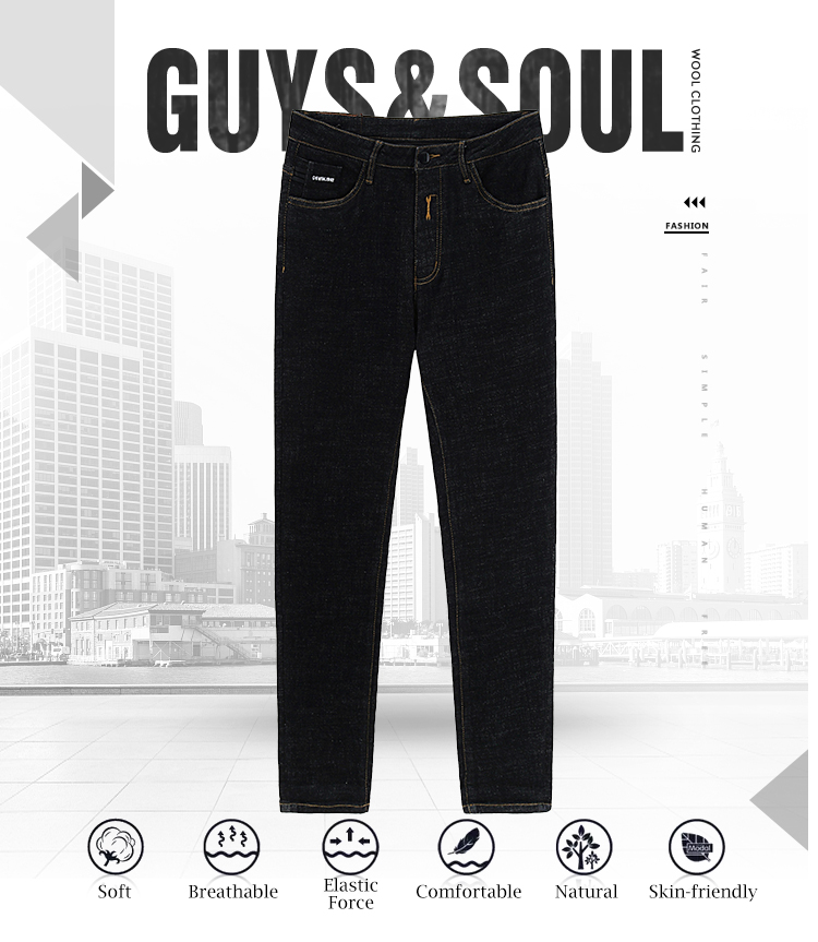 latest baggy warm slim fit  fashion denim skinny trousers jeans men
