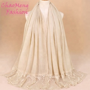 VS019#Islamic abaya and hijab burqa designs for muslim women wholesale plain white silk scarves