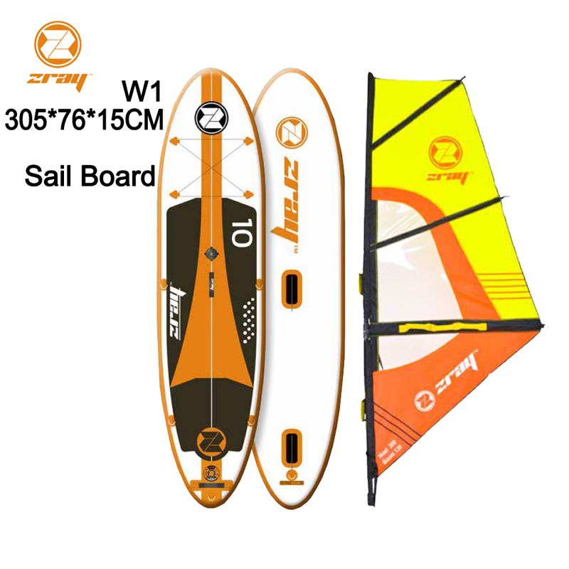 Placa de vela SUP 320 * 81 * 15 m Z RAY W2stable inflável stand up board paddle surf surf caiaque esporte barco bodyboard remo windsail