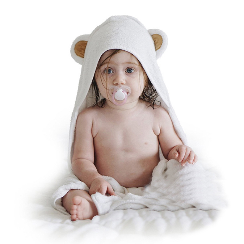 Hot Sale Animal Bamboo Hooded Towel Baby