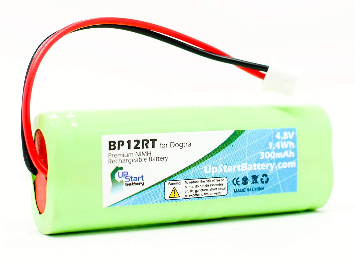 Dogtra 1900 NCP Battery - Replacement for Dogtra BP12RT Dog Training Collar Receiver Battery (300mAh, 4.8V, NI-MH)