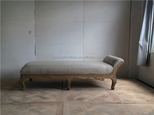 hot sale french style vintage salon furniture Wooden daybed