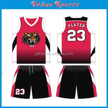 rose red Custom Made Autumn 3D Sublimation basketball Jersey