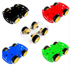 4WD Smart Robot Car Chassis Kits for arduino with Speed (5 colors)