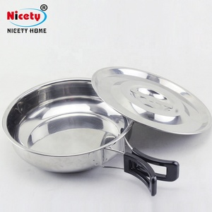 Nicety outdoor picnic free stainless steel cooking pot cookware set