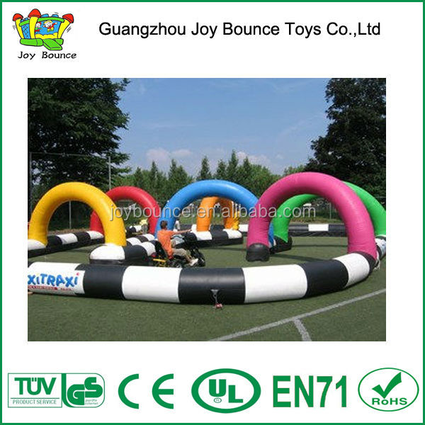 tumbling track,inflatable rc track,hot sale inflatable race track games