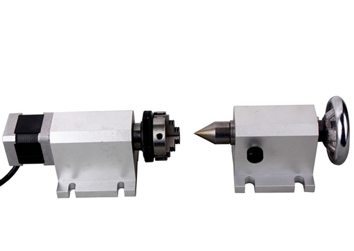 Sunwin CNC F Style A-Axis 4th-Axis Router Rotational Rotary Axis 3-Jaw 80mm+Tailstock