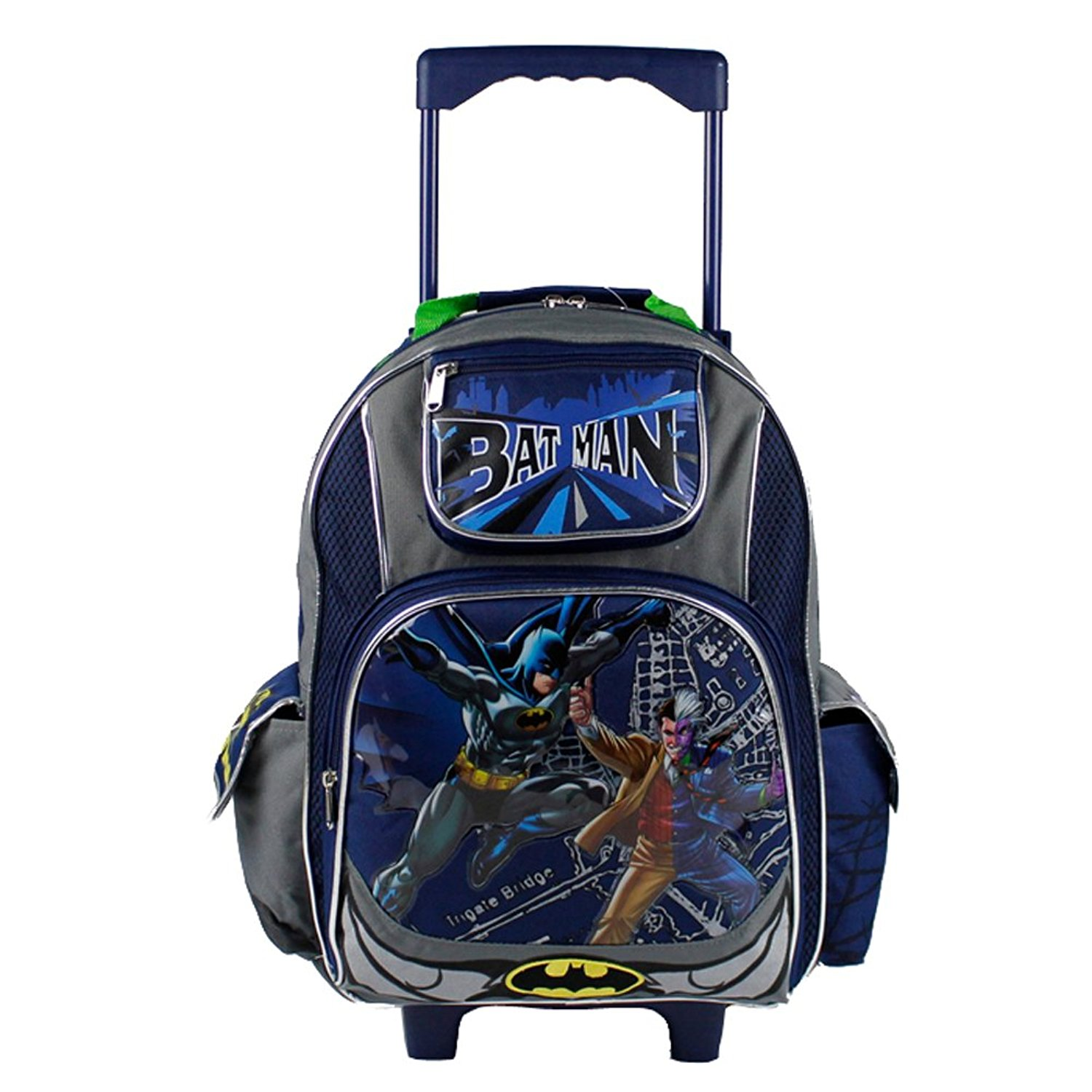 dbcefc09f17d Get Quotations · Dc Comics Batman Roller Backpack - Two Face Wheeled School  Book Bag